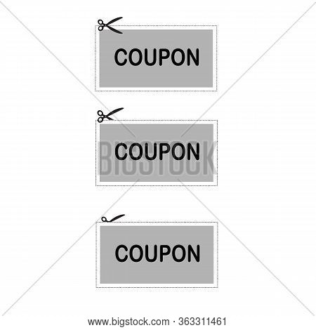 Coupon Icon On White Background. Flat Style. Discount Coupons Icon For Your Web Site Design, Logo, A