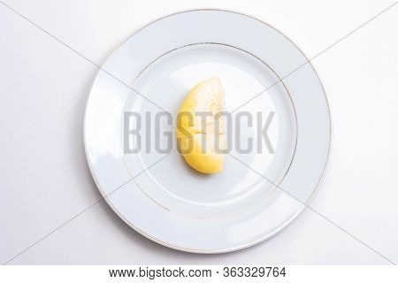 Durian, King Of Fruits, Durian On White Background.