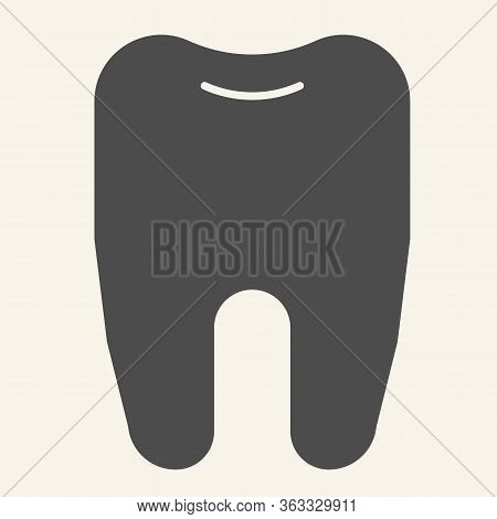 Tooth Solid Icon. Dentistry Or Stomatology Logo Glyph Style Pictogram On White Background. Health De