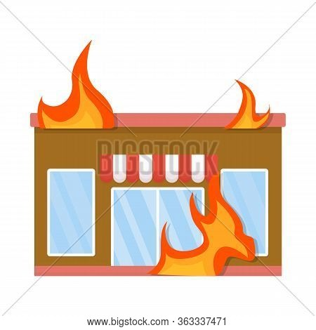 Vector Illustration Of Score And Flame Icon. Set Of Score And Library Stock Vector Illustration.