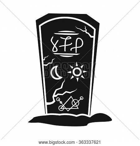 Vector Illustration Of Tombstone And Stone Logo. Web Element Of Tombstone And Gravestone Stock Symbo