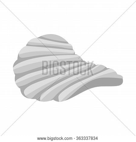 Vector Illustration Of Chip And Fluted Sign. Graphic Of Chip And Crunchy Stock Symbol For Web.