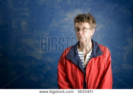 Portrait Of A Senior Woman Sailor
