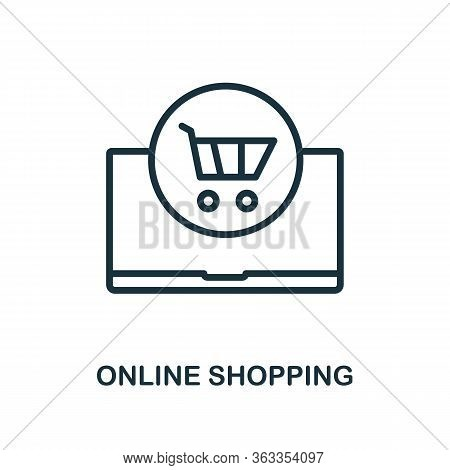 Online Shopping Icon. Line Style Simple Element From E-commerce Icons Collection. Pixel Perfect Simp