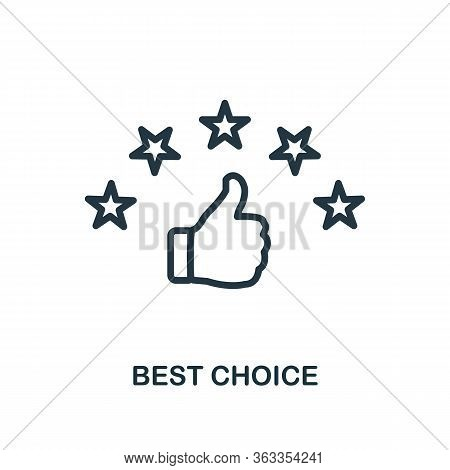 Best Choice Icon. Line Style Simple Element From E-commerce Icons Collection. Pixel Perfect Simple B