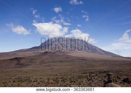 Mount Kilimanjaro On A Beautiful Sunny Day