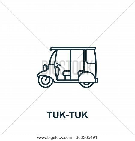 Tuk-tuk Icon. Simple Line Element Tuk-tuk Symbol For Templates, Web Design And Infographics