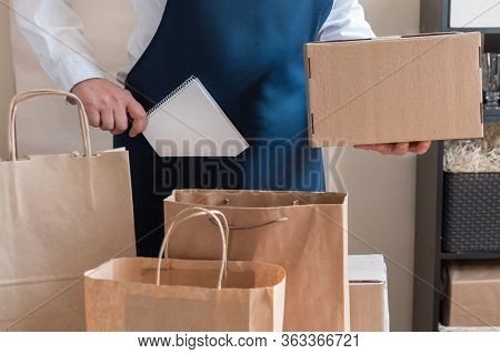 Worker Delivery Service Packing Bag Box Apron Packer Note