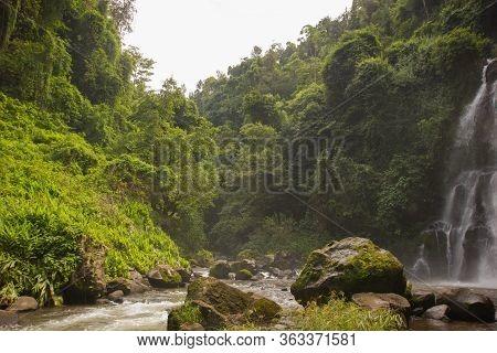 Waterfall In A Jungle In Tanzania, Africa