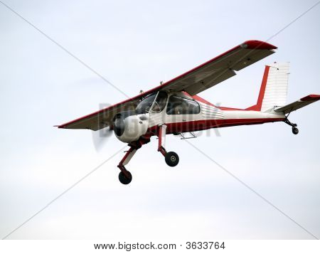 Small Plane On Glideslope