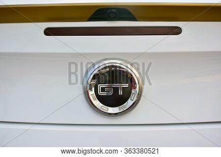 Pasig, Ph - May 13 - Ford Mustang Gt Emblem At Hot Import Nights Car Show On May 13, 2018 In Pasig,