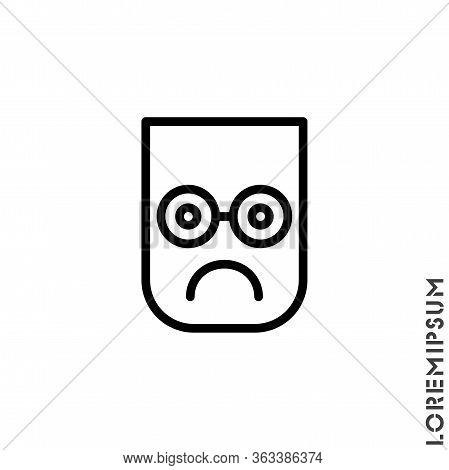 Sad Icon Vector, Emoticon Symbol. Modern Symbol For Web And Mobile Apps. Very Sad Emoticon Icon Vect