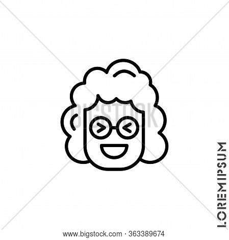 Emoticon Vector Girl, Woman Icon On White Background. Vector Emoticon Icon Symbol Sign From Modern U