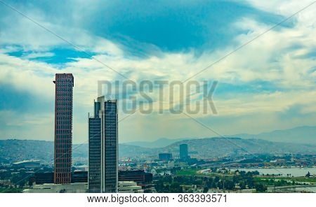 Izmir, Turkey - 2019 : New Skycrapers District Of Izmir City View From Bayrakli. Izmir Is The Third