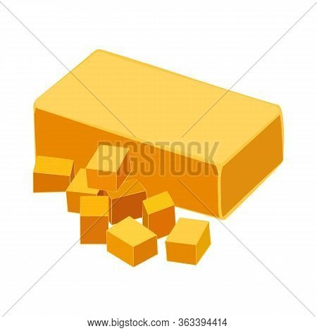 Cheddar Cheese Organic Dairy Product Vector Illustration
