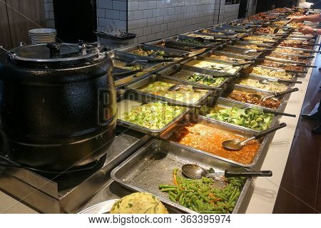 Traditional Chinese Economy Rice Cheap And Popular Lunch Dining In Malaysia