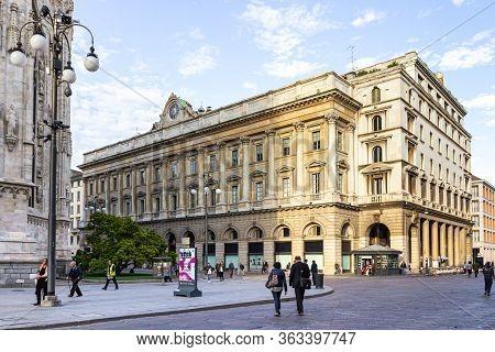 Milan, Italy, September 29, 2015 : The Santa Tecla Nel Duomo Di Milano Building Near To The Cathedra