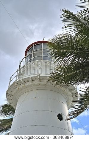 Pine Islet Light Lighthouse At Mackay Harbour