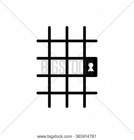 Jail Icon Flat Vector Simple Isolated Illustration Signage Template Design Trendy