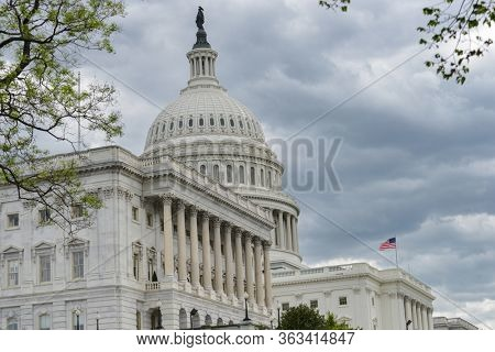 US Capitol Building during springtime - Washington DC, United States of America
