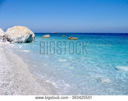 The Clarity Of Water In Lalaria Beach - Skiathos