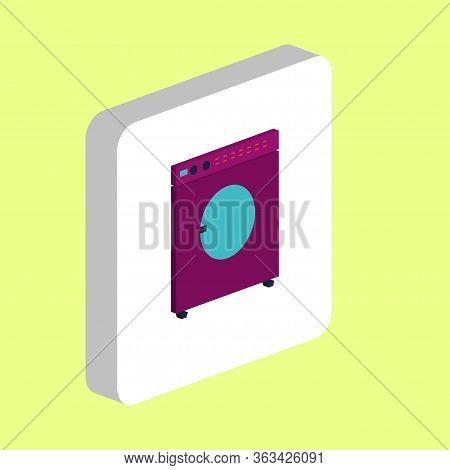 Washing Machine Simple Vector Icon. Illustration Symbol Design Template For Web Mobile Ui Element. P