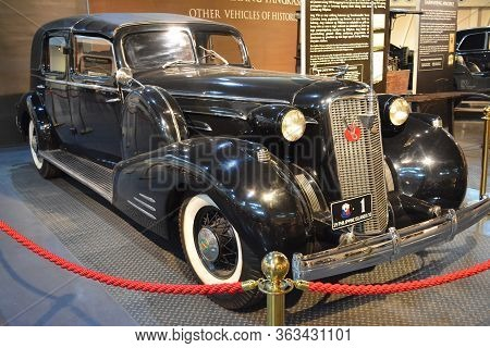 Quezon City, Ph - Apr. 28: 1934 Cadillac V16 Transformable Town Car Cabriolet By General Douglas Mac