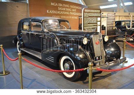 Quezon City, Ph - Apr. 28: 1934 Cadillac V16 Transformable Town Car Cabriolet By General Douglas Mac