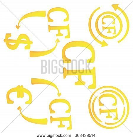 3d Comorian Frank Of Comoros Currency Symbol Icon Vector Illustration On A White Background