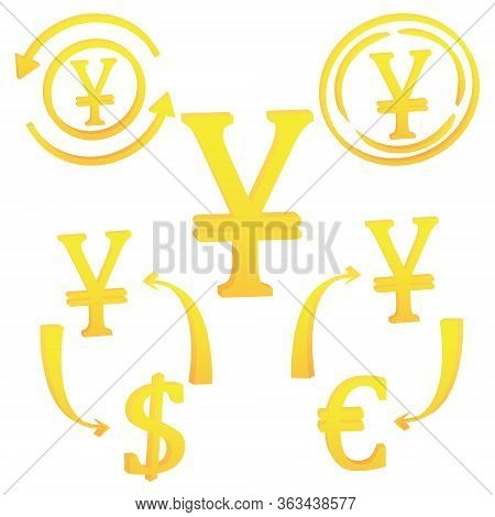 3d Japanese Yen, Currency Yen Icon Symbol Vector Illustration