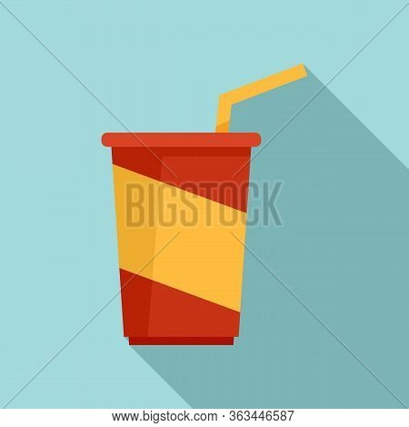Soda Cup Icon. Flat Illustration Of Soda Cup Vector Icon For Web Design