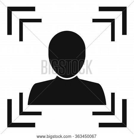 Avatar Face Authentication Icon. Simple Illustration Of Avatar Face Authentication Vector Icon For W