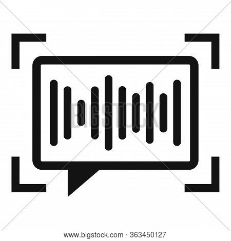 Voice Chat Authentication Icon. Simple Illustration Of Voice Chat Authentication Vector Icon For Web