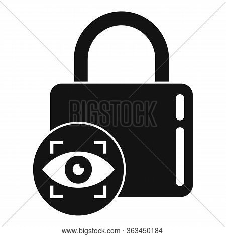 Padlock Authentication Icon. Simple Illustration Of Padlock Authentication Vector Icon For Web Desig