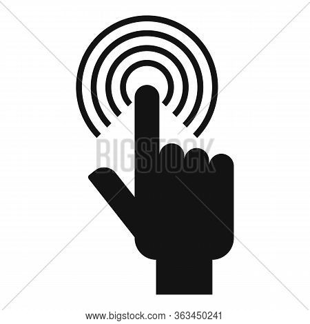 Touch Sense Authentication Icon. Simple Illustration Of Touch Sense Authentication Vector Icon For W