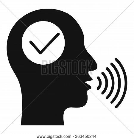 Approved Voice Recognition Icon. Simple Illustration Of Approved Voice Recognition Vector Icon For W