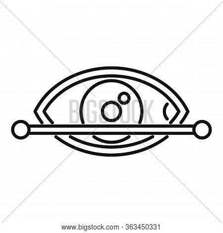 Eye Scanning Authentication Icon. Outline Eye Scanning Authentication Vector Icon For Web Design Iso