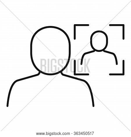 Biometric Face Authentication Icon. Outline Biometric Face Authentication Vector Icon For Web Design