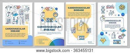Cardiovascular Disease Brochure Template. Cardiac Problems Flyer, Booklet, Leaflet Print, Cover Desi
