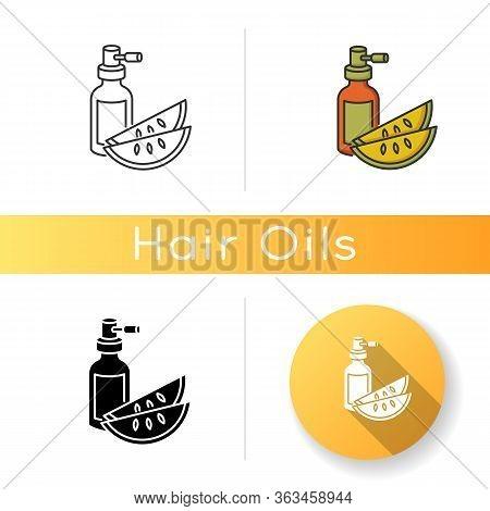 Kalahari Melon Seed Oil Icon. Dermatology Product For Haircare. Reparative Essence. Organic Eco Cosm