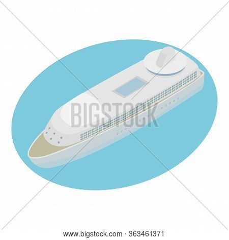 Cruise Ship Icon. Isometric Illustration Of Cruise Ship Vector Icon For Web