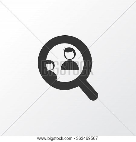 Competitor Analysis Icon Symbol. Premium Quality Isolated Find Element In Trendy Style.