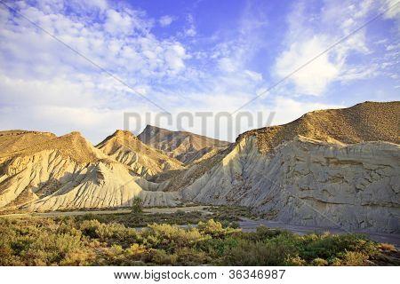 Montanhas do deserto de tabernas, Andaluzia, Espanha, filme de Cinema local Western Spaghetti