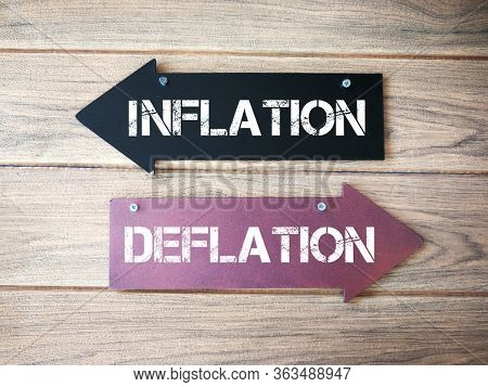 Inflation and deflation direction sign
