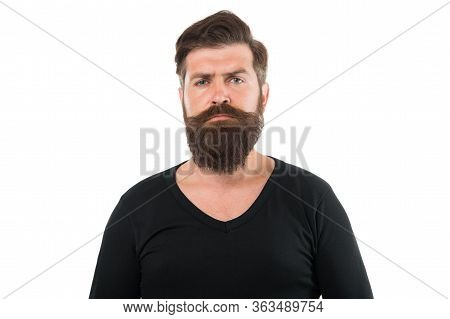 Man Bearded Hipster Stylish Mustache. Tips Maintain Beard. Male Portrait. You Will Look Unkempt Whil