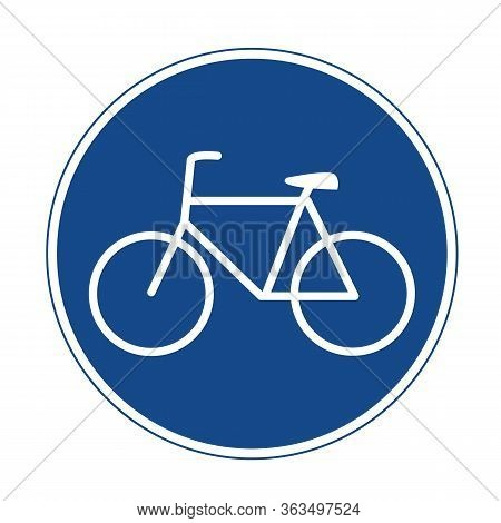 Bicycle Lane Icon On White Background. Flat Style. Bicycles Only Road Icon For Your Web Site Design,