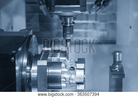 The  Multi-axis  Cnc Milling Machine  Tapping   The Aluminium Casting Parts By Tapping Tools . The 4