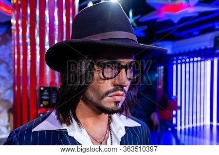 London, England, Uk - January 2, 2020: Waxwork Statues Of Johnny Depp Created By Madam Tussauds, Mad