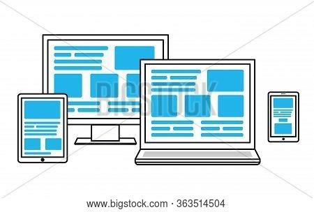 Simple Illustration For Cross Platform Web Design.