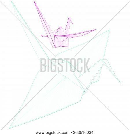 Origami Crane Vector 02.eps